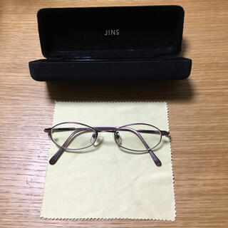 ジンズ(JINS)のJINS 眼鏡 パープル(サングラス/メガネ)