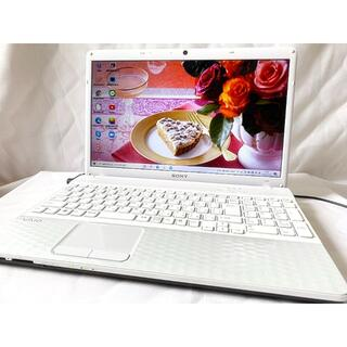 ソニー(SONY)の【超美品】大人気の白/すぐ使えるノートパソコン/SSD/8GB/Webカメラ(ノートPC)