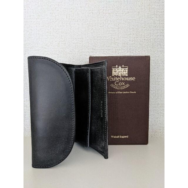 WHITEHOUSE COX(ホワイトハウスコックス)の【新品未使用品】ホワイトハウスコックス 三つ折りブラック メンズのファッション小物(折り財布)の商品写真