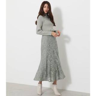 rienda - rienda レースマーメイドスカート