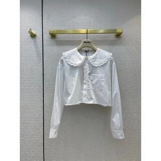 miumiu - MiuMiu★ロゴ ポプリンシャツ