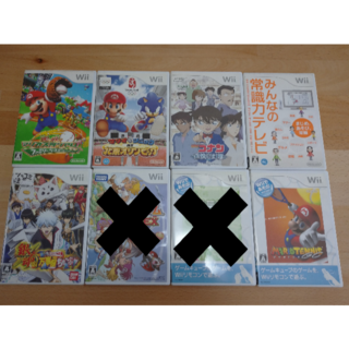 Wii - 【ジャンク品】まとめ売り ゲームソフト6本 Wii