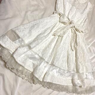 リズリサ ノースリーブワンピース  White  (ミニワンピース)