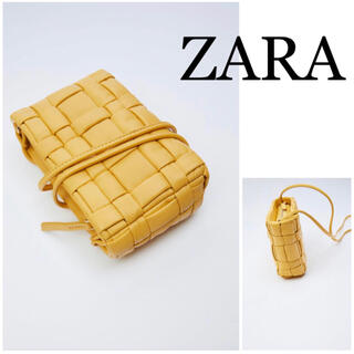 ZARA - ZARA ザラ キルト加工プリーツ入りレザークロスボディバッグ