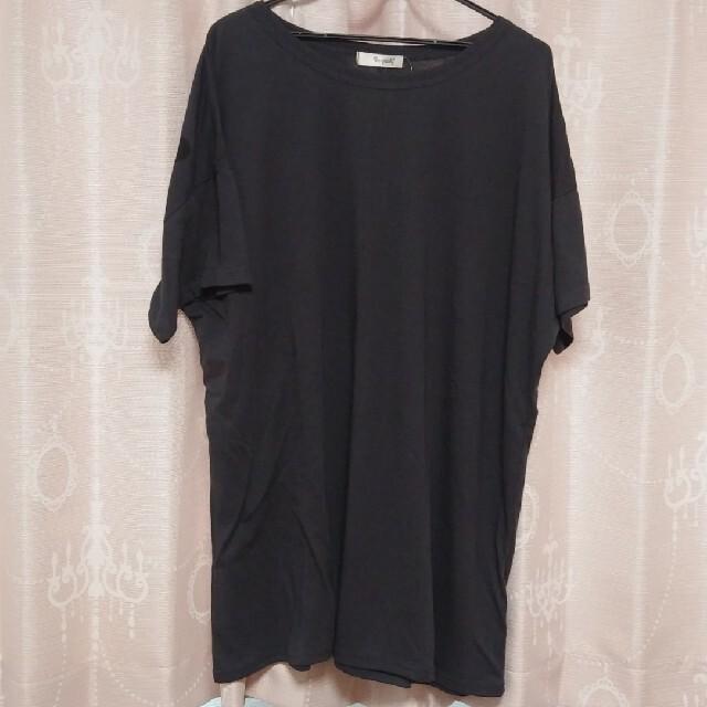 しまむら(シマムラ)のバックロゴBIGT👕大きいサイズ レディースのトップス(Tシャツ(半袖/袖なし))の商品写真