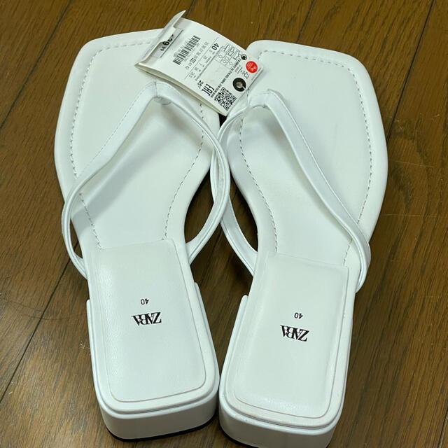 ZARA(ザラ)のZARA トング サイズ40 レディースの靴/シューズ(サンダル)の商品写真