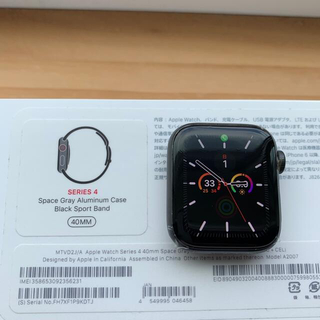 Apple Watch - apple watch4 40mm セルラータイプ スペースグレー