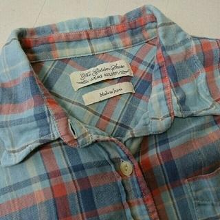 アパルトモンドゥーズィエムクラス(L'Appartement DEUXIEME CLASSE)のレミレリーフ 襟ワイヤー チェックシャツ ブルー S(シャツ/ブラウス(長袖/七分))