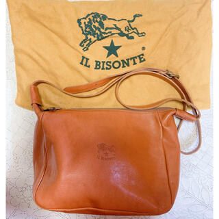 IL BISONTE - イルビゾンテ *IL BISONTE ショルダー ミニバッグ 本革 キャメル