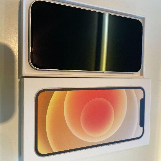 Apple(アップル)の未使用品 SIMフリー iphone12 mini 64GB ホワイト スマホ/家電/カメラのスマートフォン/携帯電話(スマートフォン本体)の商品写真