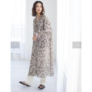 green parks - chocol raffine robe  キャンディースリーブ花柄ワンピース