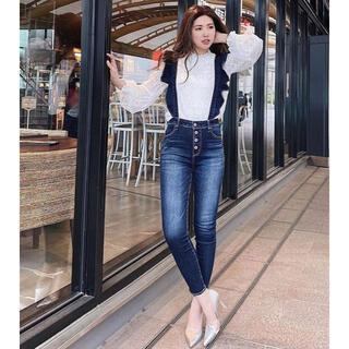 rienda - rienda  Suspenders Frill J/W DENIM PT