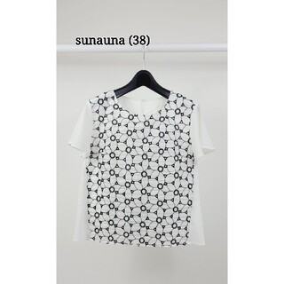 スーナウーナ(SunaUna)の美品♪(38) sunauna 刺繍ブラウス(シャツ/ブラウス(半袖/袖なし))