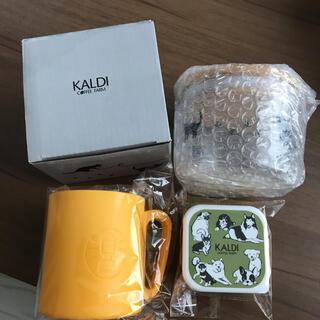 KALDI - 新品カルディKALDIネコの日オリジナル ガラスキャニスター犬の日ミニタッパー