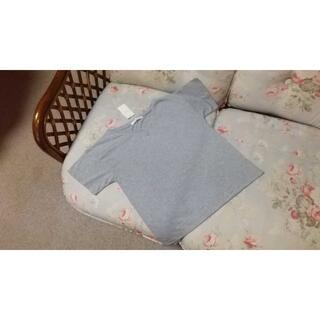 サマンサモスモス(SM2)の新品☆サマンサモスモス SM2 グレー VネックTシャツ(Tシャツ(半袖/袖なし))