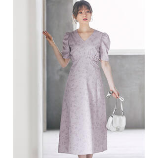 tocco - tocco closet タイニーフラワープリントバックレースアップワンピース