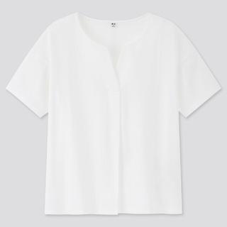 ユニクロ(UNIQLO)のUNIQLO ユニクロマーゼライズコットンキーネックT(Tシャツ(半袖/袖なし))