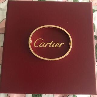 カルティエ(Cartier)の♡カルティエ ラブブレス  ピンク ゴールド 美品♡#17(ブレスレット/バングル)