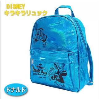 Disney - 新品★ ディズニー DISNEY リュック キッズ ドナルド キラキラ ラメ