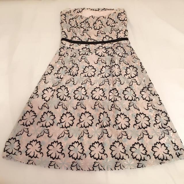 TOCCA(トッカ)のTOCCAトッカ花柄刺繍ワンピース(ピンク) レディースのワンピース(ひざ丈ワンピース)の商品写真