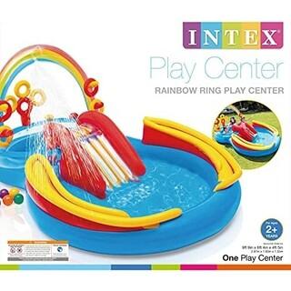 INTEX レインボープレイセンター すべり台付きプール