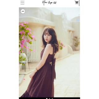 snidel - herlipto Back Ribbon Tiered Linen Dress