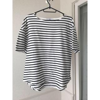 アーバンリサーチ(URBAN RESEARCH)のアーバンリサーチ  トルココットンボートネック裾ラウンドTシャツ(Tシャツ(半袖/袖なし))