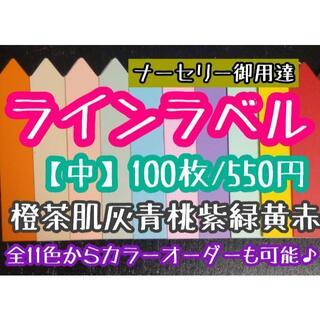 ◎ 100枚 ◎ 10色 ( 中 ) ラインラベル 園芸ラベル カラーラベル(プランター)