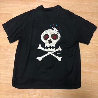 RUDE GALLERY - 中古品 RUDE GALLERY チェーンステッチ 刺繍 オープンカラーシャツ