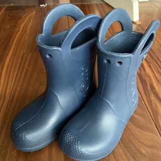 クロックス(crocs)のクロックス 長靴 レインブーツ 17.5 ネイビー(長靴/レインシューズ)
