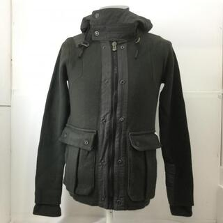 G-STAR ミリタリー ニット ジャケット 切り替え フード ジャケット、上着(ナイロンジャケット)