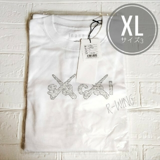 sacai - sacai x KAWS Print Tシャツ 会場限定 XL (ホワイト)