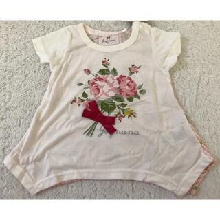 ベビー女児 花柄Tシャツ