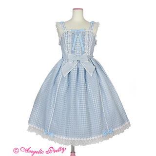 アンジェリックプリティー(Angelic Pretty)のHummingギンガムジャンパースカート(ひざ丈ワンピース)