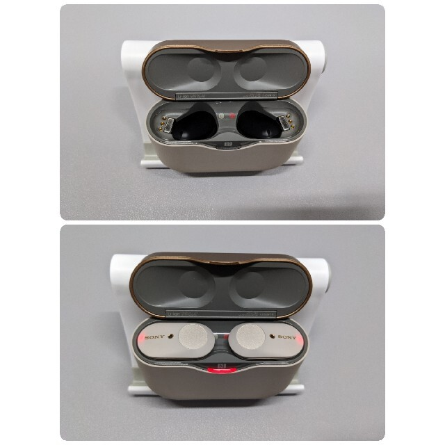 SONY(ソニー)のSONY WF-1000XM3 プラチナシルバー ワイヤレスイヤホン スマホ/家電/カメラのオーディオ機器(ヘッドフォン/イヤフォン)の商品写真