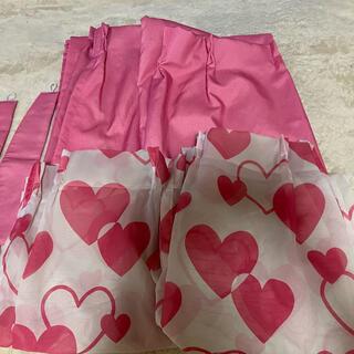 カーテン 遮光 ピンク レースのおまけ付き