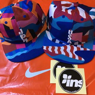 ナイキ(NIKE)の新品 NikeSB 日米キャップ2個セット インスタント ステッカーおまけ付き(キャップ)