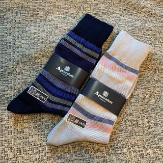 アクアスキュータム(AQUA SCUTUM)のaquascutum 靴下 25cm 天然素材 綿100%(ソックス)