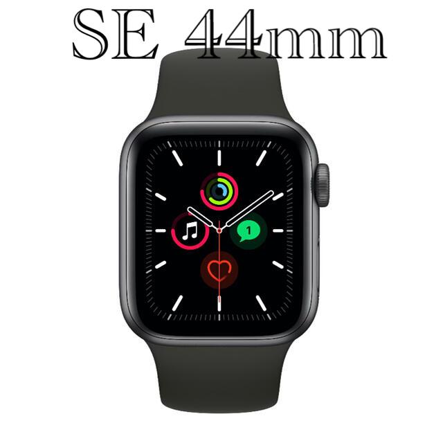 Apple Watch(アップルウォッチ)のApple Watch SE GPSモデル 44mm スペースグレー メンズの時計(腕時計(デジタル))の商品写真