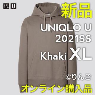 UNIQLO - 【新品】ユニクロ U ワイドフィットスウェットプルパーカー カーキ XL