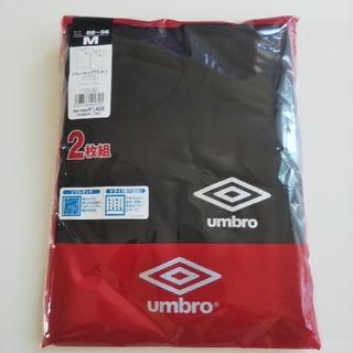 アンブロ(UMBRO)の2枚組 M umbro アンブロ クルーネックTシャツ ブラック 黒(その他)