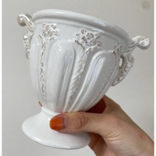 Francfranc - 【美品】花瓶 アンティーク 白 壺