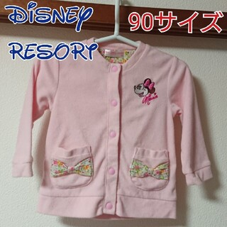 Disney - ディズニーリゾート ミニー 小花柄 パーカー 90サイズ