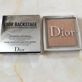 ディオール(Dior)の【未使用】Dior ディオールバックステージ フェイス&ボディ  パウダー 1N(フェイスパウダー)
