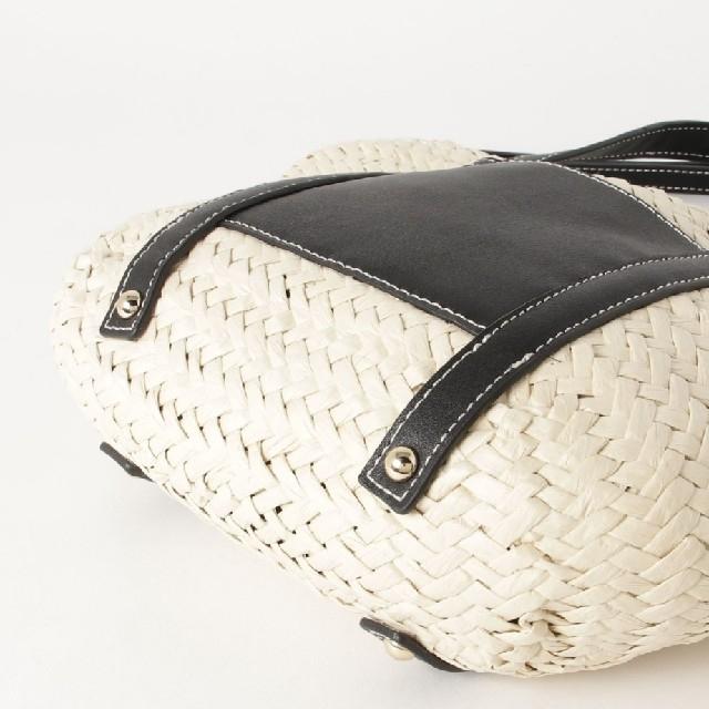 Mila Owen(ミラオーウェン)の【新品未使用】配色ステッチ2WAYかごバッグ レディースのバッグ(かごバッグ/ストローバッグ)の商品写真