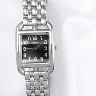 エルメス(Hermes)の【保証書付】エルメス ケープコッド 黒文字盤 ブレス レディース 腕時計(腕時計)
