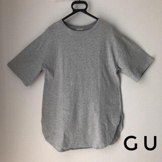 GU - GU Tシャツ ラウンドテールTシャツ グレー Mサイズ