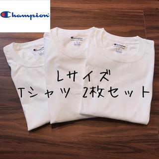 Champion - 【訳あり】2枚 チャンピオン メンズ 半袖 Tシャツ トップス 白T 洋服 L