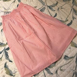 GU - ジーユー ガールズスカート 140 ピンクストライプ