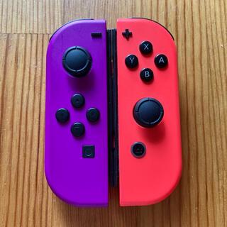 ニンテンドースイッチ(Nintendo Switch)のSwitch ジョイコン ネオンパープル×ネオンレッド ニンテンドー(家庭用ゲーム機本体)